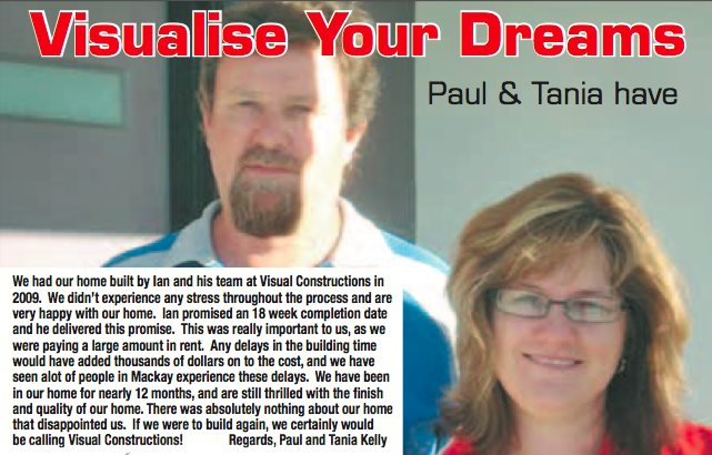 Paul and Tania Kelly: Client testimonial